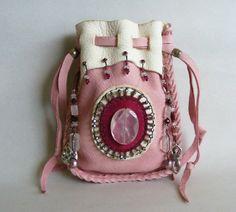 LOVE GODDESS medicine bag spirit pouch with Rose by pradoleather, $75.00
