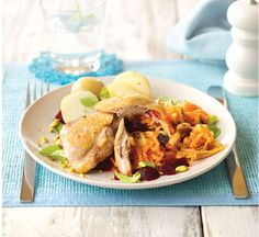 Spring Chicken with Tahini Dressed Salad