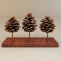 models: Other decorative objects - T-Wood Decorative Object Rock Crafts, Diy Arts And Crafts, Decor Crafts, Diy Crafts, Pine Cone Art, Pine Cone Crafts, Pine Cone Decorations, Christmas Decorations, Macrame Wall Hanging Patterns