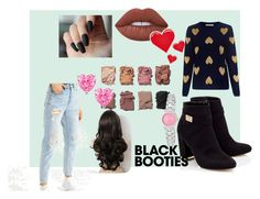 """""""BlackBooties"""" by hogwartspink ❤ liked on Polyvore featuring American Eagle Outfitters, Lipsy, Lime Crime, Chinti and Parker, PINTRILL, Illamasqua, Furla and blackbooties"""