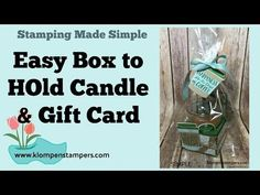 Easy Box to Hold Candle & Gift Card Stamp Making, Card Making, Dollar Tree Candles, Mini Coffee Cups, Diy Projects To Try, 3d Projects, Coffee Candle, Craft Show Ideas, Card Tutorials
