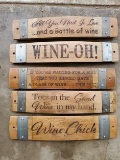 Wine Barrel Stave Signs/Sayings/Personalized/Laser image 0