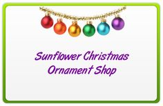 Shop for all your sunflower ornaments here.