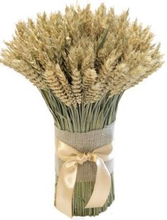Wheat Wedding Centerpiece except I would use different types of hay