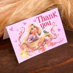 free printable Tangled Thank You Cards