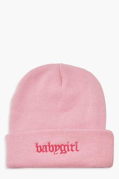 Womens Babygirl Beanie - Pink - One Size Beanie Outfit, Beanie Hats, Girl Beanie, Cute Beanies, Pink Beanies, Cute Hats, West Coast Choppers, Accesorios Casual, Adidas Outfit