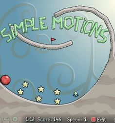 A fun, gentle physics game -- just program the rolling ball properly so that it collects all the stars.