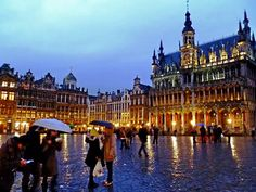 """On a trip to Belgium that took him to Liege, Waterloo and the Ardennes, Jake Bumgardner came upon Brussels' Grand-Place one wet evening. """"This rainy image is typical of all my rain-soaked photos from this trip,"""" the Chicago resident said."""