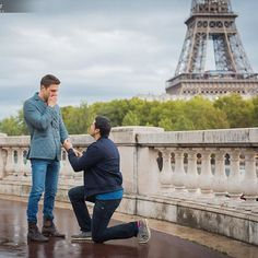 Gio Benitiz proposes to Tommy DiDario  in Paris
