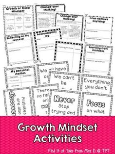 Growth Mindset Activities for Parents, Teachers, and Students ...