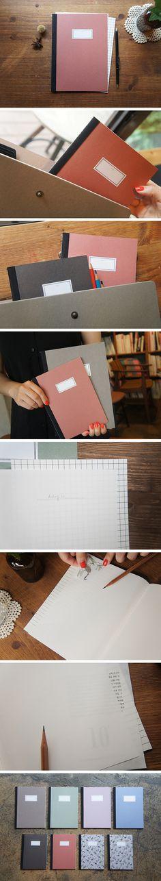 O-Check Design Graphincs - Stitch Notebook (M) Red | 1.500KD | Made in Korea