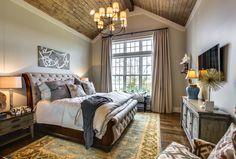 Breathtaking Bedrooms I Wood Ceilings I Elegant Light Fixtures #GroveLiving