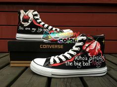Personalized Shoes Women Converse Twilight Hand Painted High Top All Star Unique Canvas Sneaker So Cool!