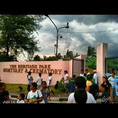 ドルフィーさんの葬儀が行われる墓地。安らかに… #comedy #king #dolphy at #heritage #park #rip #フィリピン