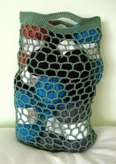 O.F. Patterns and Tutorials: Crocheted Bag: Hexagon Stitch