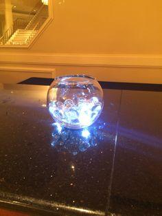 Fishbowl centerpiece at the bar