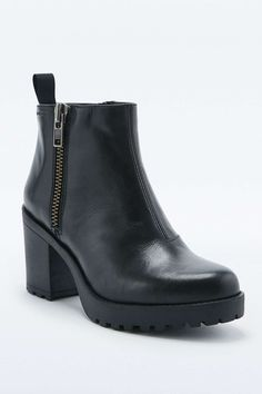 Vagabond - Bottines Grace zippées noires