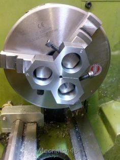 """Set of tool makers mini jaws mounted on a 6"""" 3-Jaw chuck. This was my inspiration for the one I made and shown at http://www.homemadetools.net/mini-toolmaker-s-jaws"""