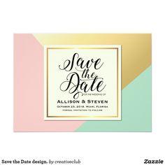 Save the Date design. #savethedate #weddinginvitation #weddingcard #weddingstationary