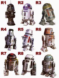 Droids R1-R9