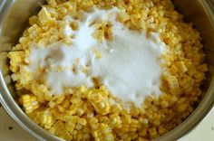 Add a little sugar, salt and butter to corn before freezing. It makes the best freezer corn to enjoy all winter long!