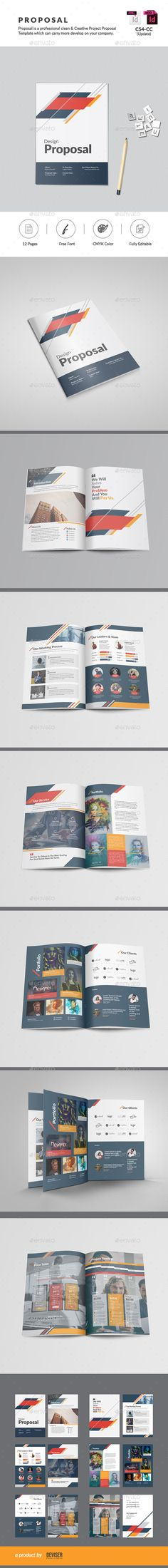 30 Pages Clean Business Proposal Template InDesign INDD Proposal - download business proposal template