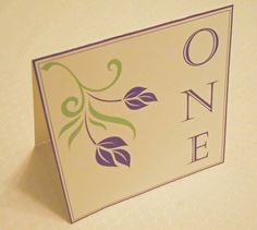 Floral design table numbers