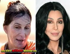 Cher the Power of Makeup Celebrities Before And After, Celebrities Then And Now, Beauty Make-up, Beauty Hacks, Hair Beauty, Celebs Without Makeup, With And Without Makeup, Cher Bono, Makeup Before And After