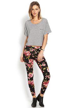 Sweet Floral Leggings   FOREVER 21 - 2000069904