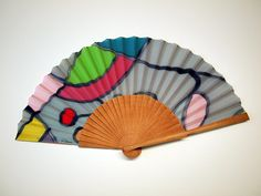 Handpainted Silk hand fan-Wedding hand fan-Giveaways-Bridesmaids-Gift for woman-Mom-Wife-Her-Girlfriend-Leather case-Ready to be shipped de gilbea en Etsy Hand Fans For Wedding, Wedding Hands, Painted Fan, Hand Painted, Painted Silk, Gifts For Your Girlfriend, Gifts For Wife, Silk Painting, Bridesmaid Gifts
