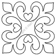 Continuous Line Quilting Stencils > 5 - 6 Block C.L. - Item: 6 on QuiltingCreations...