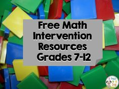 2 Peas and a Dog: Math Intervention Resources. Finding good quality math intervention resources can be challenging. Check out all these great resources to help support learners in Grades 7 - 12.