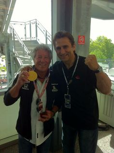 Mario Andretti and Alex Zanardi. Legends.