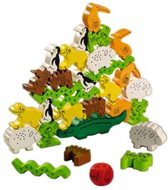 Animal Upon Animal - Wood Stacking Game | HABA USA