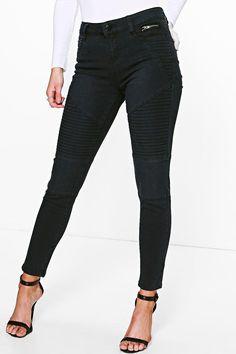 Petite Mya Biker Skinny Jeans