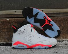 Originally released in 1991, the Air Jordan 6 Retro in White/Infrared-Black will be available this Saturday to coincide with the 2014 NBA All-Star Game Weekend. Best known its large heel tab, inspired by the rear wing on Michael Jordan's own Porsche 911 Turbo, the Air Jordan 6 also saw the start of Jordan's quest to win six NBA Championship titles. And because  2014 marks the 23rd anniversary of Air Jordan 6, there will be other retro colorways to come later this year. Ava...