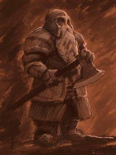 m Dwarf Fighter Axe helm on Fantasy Dwarf, Fantasy Warrior, Medieval Fantasy, Dnd Dwarf, Dwarf Fighter, Dwarven City, Grandeur Nature, Character Art, Character Concept