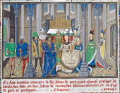 Detail of a miniature of the marriage of John, king of Portugal to Philippa of Lancaster