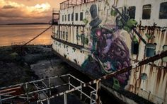 Huge Abandoned Ship Duke Of Lancaster Transformed into a Mind Blowing Graffiti Gallery 10 @ GenCept 650x406 Huge Abandoned Ship Transformed ...