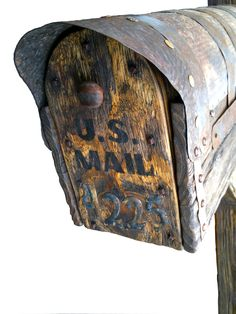 Bezaleel Workshop provide you Unique farmhouse design,art furniture and decor,made from the new materials. Rustic Mailboxes, Unique Mailboxes, Salvaged Wood Projects, Country Style Furniture, Metal Numbers, Restore Wood, Peeling Paint, Forging Metal, Natural Wood Finish
