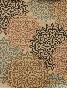 Area Rug Carpet Modern Abstract Contemporary Beige Black Brown Floral * NEW