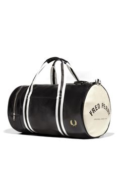 Fred Perry - Classic Barrel Bag Black / Ecru