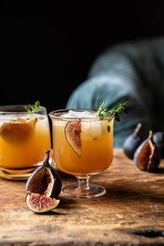 Fig Dark and Stormy. - Half Baked Harvest - - Sweet fig preserves, a generous shot of rum, a squeeze of lemon, and a splash of spicy ginger beer. This Fig Dark and Stormy is the simplest cocktail to make, but so delicious. Easy Cocktails, Cocktail Drinks, Cocktail Recipes, Alcoholic Drinks, Beverages, Cocktail Movie, Cocktail Sauce, Cocktail Shaker, Cocktail Attire