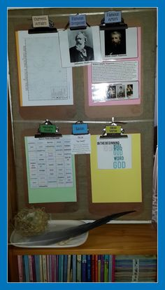 """Current Learning Board. Includes link to Anne Voskamp's """"Daily Links for Hungry Minds"""" blog post"""