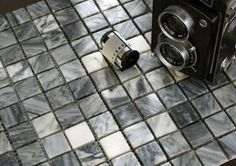 Mosaic Tile - Beautiful stone mosaic wall tile in grey hues from natural stone in matt finish for modern wall decoration by Nova Deko. Stone Mosaic Tile, Mosaic Wall Tiles, Modern Wall Decor, Natural Stones, Tile Floor, Accessories, Beautiful, Nova, Bathroom