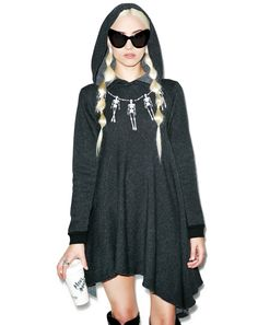 Wildfox Couture Skelley Necklace Angel Hoodie