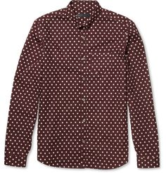 Burberry ProrsumPolka-Dot Cotton Shirt|MR PORTER