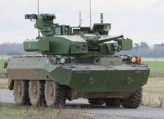 The T40 turret demonstrator installed on the AMX-10RC wheeled reconnaissance vehicle is seen here. (CTA International)