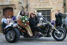 Rainbow Trike Tours chauffeur wedding service.