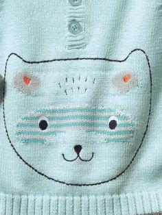 #Pull motif #ourson bébé garçon - Collection printemps été 2014 - www.vertbaudet.fr